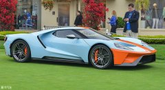 圆石滩车展 全新福特GT传承版车型亮相